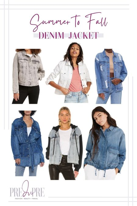 Transition your favorite summer outfits into the fall season with these five pieces. Read how to do easy-peasy season style changes on the blog www.predupre.com  http://liketk.it/3mWtQ  denim jacket, summer to fall, fall outfits, fall outfit ideas, fall looks, transition pieces   #LTKSeasonal #LTKstyletip