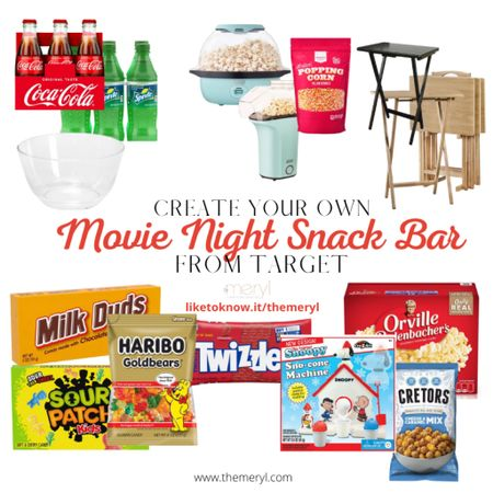 Get all the snacks your heart desires when you host a movie night at home. Fun!   #LTKkids #LTKunder50 #LTKfamily