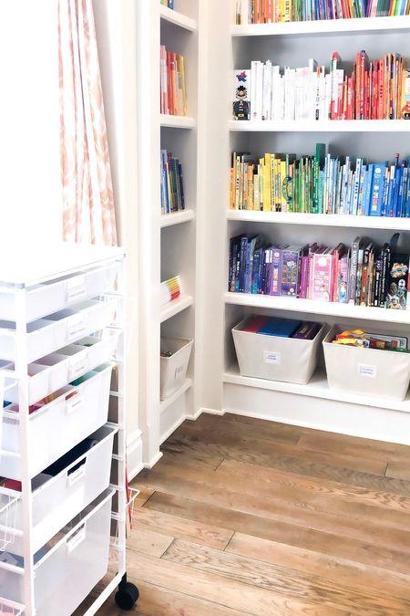 Bookshelf and crafts organization!  #LTKkids #LTKhome #LTKbacktoschool