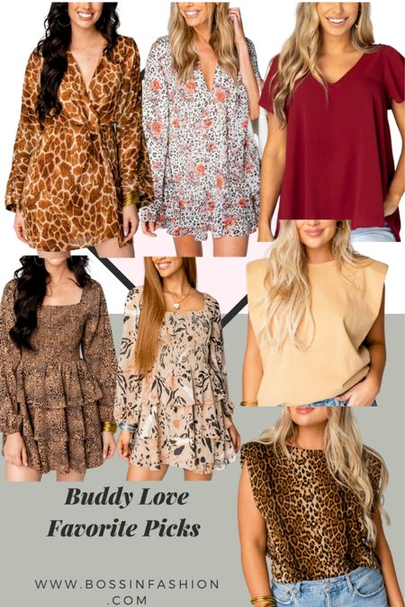 I love buddy love dresses. Printed dresses are in for fall season! Also shop my favorite short sleeve solid color tops! Amazing!   #LTKstyletip #LTKSale #LTKSeasonal