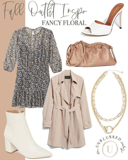 Fancy fall floral for a weekend date night or casual wedding guest dress! Would be great for family photos too! http://liketk.it/2ZSPq #liketkit @liketoknow.it #LTKstyletip #LTKunder100 #LTKworkwear fall dress, fall outfits women, boots, white booties outfit, fall family photos, fall dresses, Abercrombie