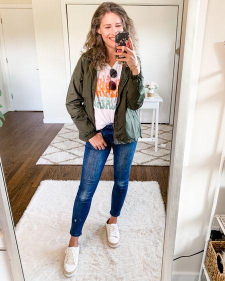 This jacket is just $7, people. $7!! Quality is great, great fit and fabric. Zipper pockets. Stowaway hood. Great lightweight piece! I'm wearing the medium. Grabbed it in black too! http://liketk.it/3k7hb #liketkit @liketoknow.it #LTKunder50 #LTKsalealert #LTKstyletip #walmartfashion #walmartclearance