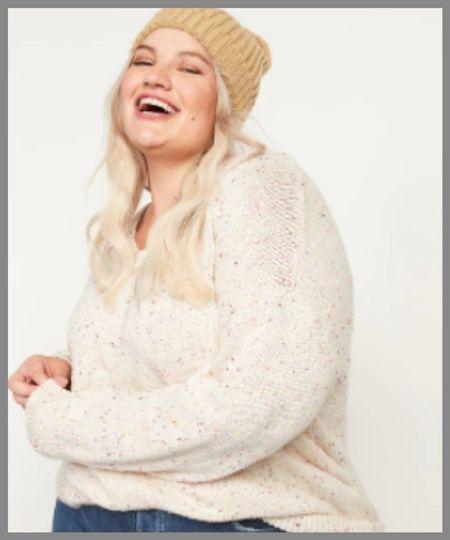oversized vneck sweater  #LTKSeasonal #LTKsalealert #LTKunder50