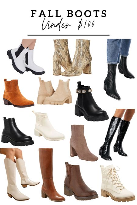 Boots under $100! Rounded up all my favorite fall boots, western boots, Chelsea boots and booties   #LTKunder100 #LTKsalealert #LTKshoecrush