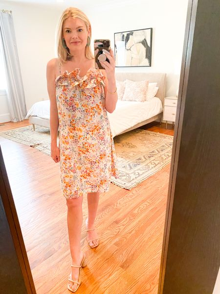Such a fun summer dress - comes in several colors and a midi length! I did not size down, but you can.   #LTKstyletip #LTKunder50 #LTKSeasonal