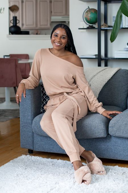 Sundays are for self care and @walmartfashion has everything you need to lounge around in style this Fall. #AD I'm loving this cozy off the shoulder jumper and fuzzy slippers from #walmartfashion. Oh and this jumper comes in 3 colors and goes up to a 3XL.   Head to my stories to shop more of my Fall favorites from @walmartfashion and to my @shop.ltk it profile here: to shop this look.  #LTKhome #LTKstyletip #LTKunder50