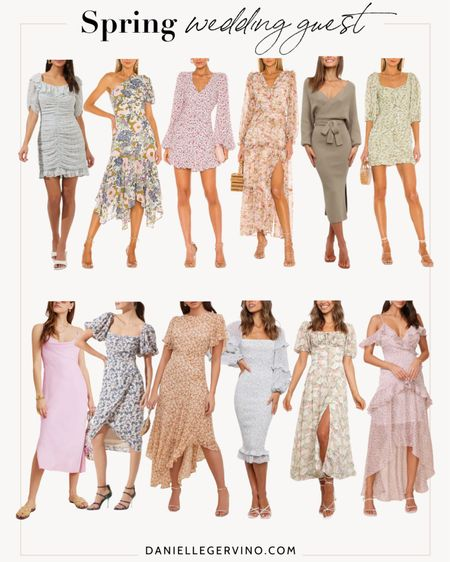 Spring wedding guest dresses 💃🏼 http://liketk.it/3c1Np @liketoknow.it #liketkit   Occasion dresses, party dresses, floral dress, midi dress, wrap dress, cocktail dresses