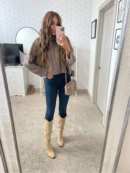 Turtleneck sweater for fall! Use code MAKENNA15!  Wearing size small, fit tts!