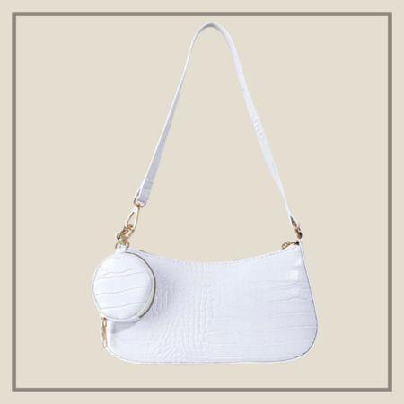 White purse with matching coin bag from Shein   #LTKstyletip #LTKitbag #LTKunder50