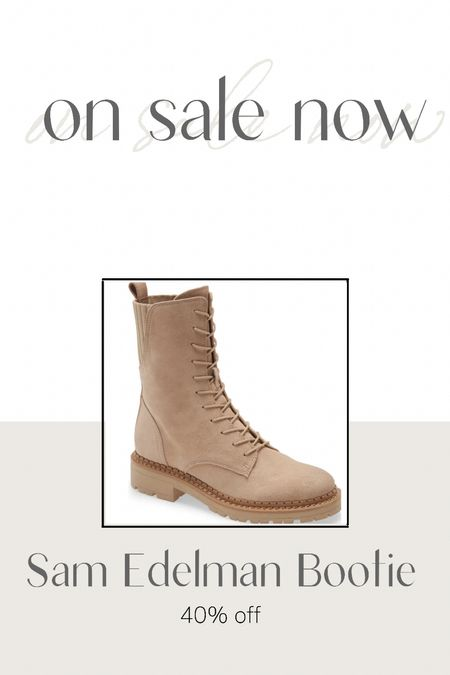 This fall's hottest style is this combat boot in this sand color.  Perfect neutral color for fall styling.    #LTKstyletip #LTKshoecrush #LTKsalealert