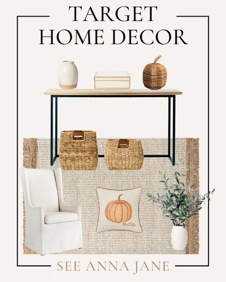 Fall Themed Entryway From Target ✨  #entryway #targethome #targetfinds #targethomedecor #fallhome #falldecor #fallhomedecor #affordablehomedecor #target #entrywaystyle  #LTKhome #LTKSeasonal
