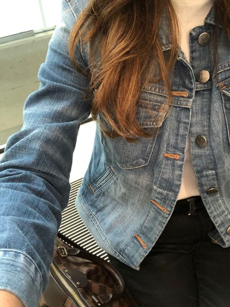 One of my favorite pieces of all times is a denim jacket or jean jacket, as I called it growing up in Texas.   I wore this one on both travel days to Florida this weekend, and it was the perfect layer to go to with everything I packed.   #denimjacket #jeanjacket #wardrobebasics #wardrobeessentials #fashionover40 #fashionover50 #midlifestyle #casualoutfit #hermesbelt #traveloutfit #falloutfits2020 #overfortystyle #over50style #airportoutfit #midwestblogger #mnblogger #longhairdontcare #weekendtrip  http://liketk.it/305DH #liketkit @liketoknow.it #LTKtravel You can instantly shop all of my looks by following me on the LIKEtoKNOW.it shopping app.