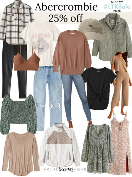 LTK Early Gifting Sale! 25% off Abercrombie!  Causal outfit, jeans, cozy outfit, baseball cap, fall outfit, ootd, shacket, jacket, loungewear, pajamas, dresses   #LTKSale #LTKGiftGuide #LTKstyletip