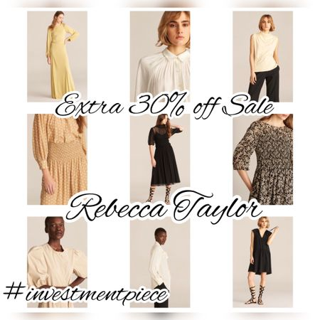 From romantic dresses to work ready blouses, take an extra 30% off sale @rebeccataylor with code SUMMER30 #investmentpiece   #LTKsalealert #LTKworkwear #LTKstyletip