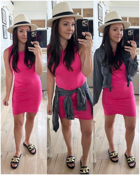 Amazon finds Amazon fashion  Dress Similar black button down linked  Sandals Fedora   #LTKunder50
