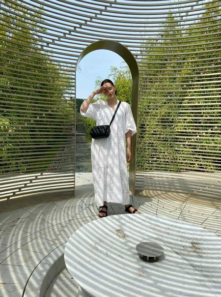 White Summer Dress 🤍 Maxikleid, Sommerkleid in Weiß   #LTKeurope #LTKfit #LTKstyletip
