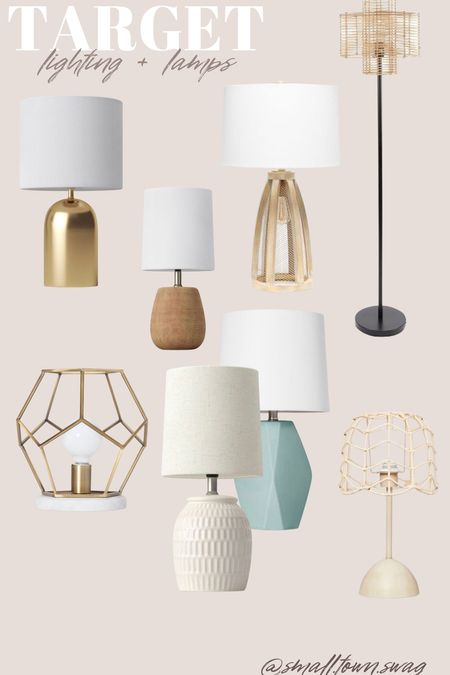 Lighting & lamps at Target! . . . . . . Target home // Walmart home, Walmart home Decor, target home Decor, Lighting, lamps, lamp, bench, table, coffee table, storage bench, rug, rugs, BoHo decor, farmhouse Decor, Modern farmhouse, bohemian, rustic decor, industrial Decor  #LTKhome #LTKfamily
