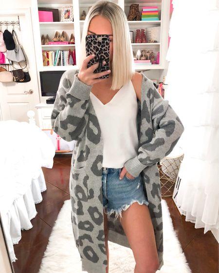Gray animal print duster cardigan! Also in tan. Wearing a small! http://liketk.it/2Ekd1 @liketoknow.it #liketkit #LTKsalealert #LTKunder50