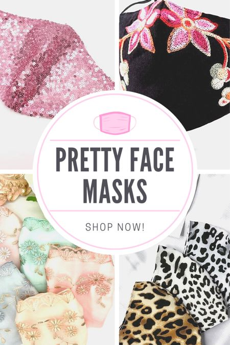 We're gonna have to wear them for the foreseeable future, so we should at least make them pretty!! Check out these beautiful face masks and PROTECT YOURSELF AND OTHERS IN STYLE! #facemasks   #LTKbeauty #StayHomeWithLTK #LTKstyletip