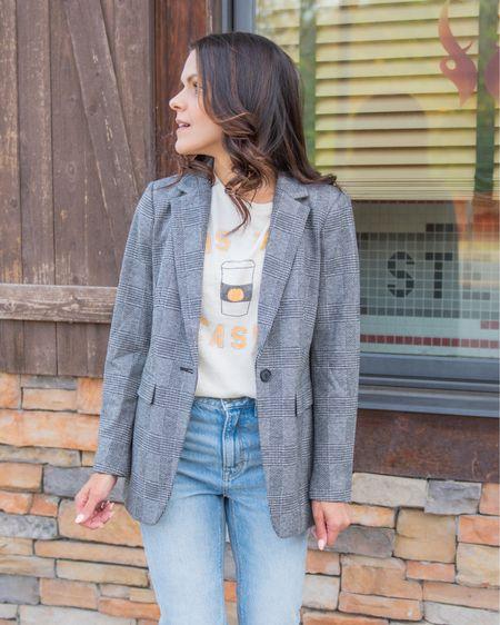 Sharing ways to style a plaid blazer in stories today!   #LTKworkwear #LTKstyletip
