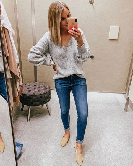 NSALE TRY ON HAUL 💕 this sweater is SO soft & can be worn on or off the shoulder! Also love these flats - so great for work or weekend & now have them in mustard and black 😆  — Sweater - XS (TTS) Denim - 24 (size down one) Flats - TTS  http://liketk.it/2DfUf @liketoknow.it #liketkit #LTKsalealert #LTKshoecrush #LTKstyletip #LTKunder50 #LTKunder100 #LTKworkwear Nordstrom Anniversary sale