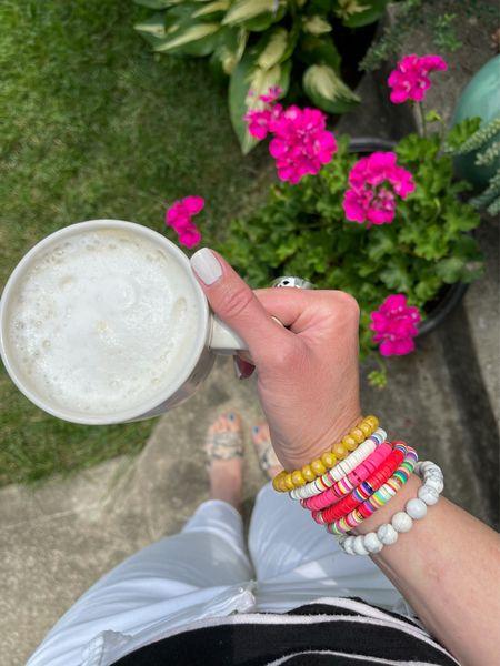 Loving this bracelet color combo on my arm! Affordable, too! #bracelet #braceletstack #armparty #summerstyle #afforablefashion  #LTKbeauty