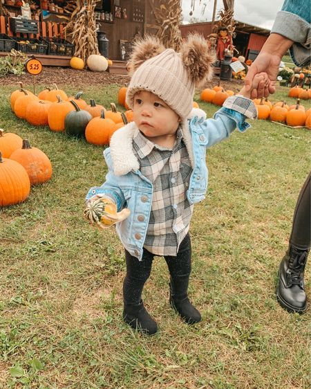 Mommy and me beanies. Toddler girl fashion. Target style. Cat and Jack. Target finds. Toddler outfit. Boots. Kids plaid top. Amazon finds.   #LTKbaby #LTKfamily #LTKkids