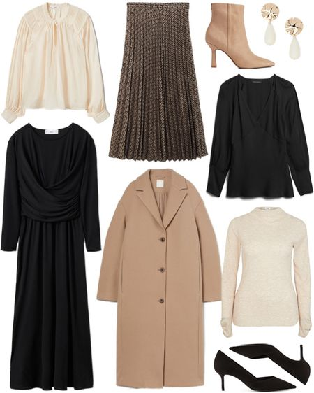 Neutral styles for under $100! These pieces would also be the perfect addition to your fall/winter work wardrobe 🖤  #tssedited #thestylescribe #budgetfriendly #staples #coat #blouses #officeappropriate #workwear #office #pumps  #LTKunder100 #LTKworkwear #LTKunder50
