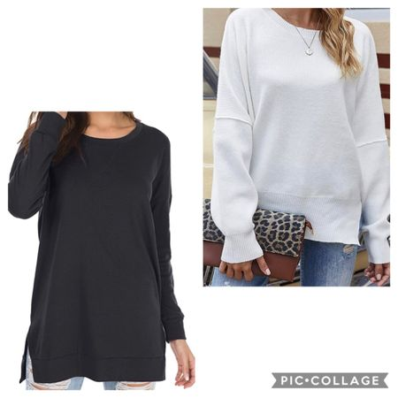 What I'm keeping from my @amazon haul today! Love this tshirt tunic, so good for layering and comes in a lot of colors!!!! The bat winged sleeves on this white sweater are great too, it also comes in a few other colors.   http://liketk.it/30JDW #liketkit @liketoknow.it   Follow me on the LIKEtoKNOW.it shopping app to get the product details for this look and others