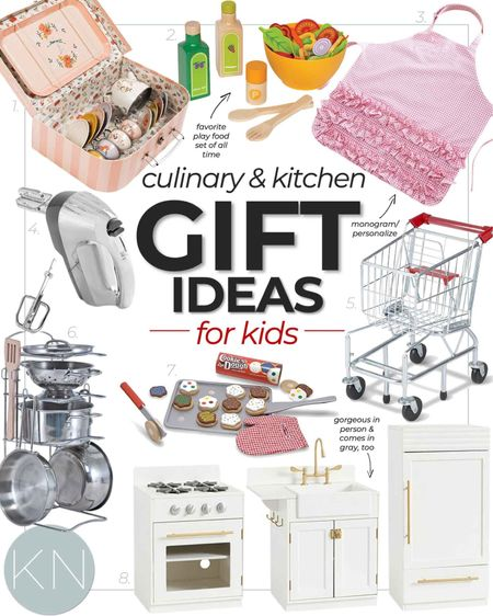 Culinary and kitchen gift ideas for kids — order now to ensure arrival for the holidays! Classic gift toddler gift imaginative play grocery cart tea set play kitchen play food child apron kitchen toy  #LTKGiftGuide #LTKkids #LTKHoliday