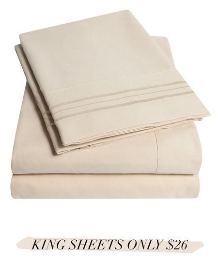 Walmart king sheets  #homedecor #home #laurabeverlin   #LTKhome #LTKsalealert #LTKunder50
