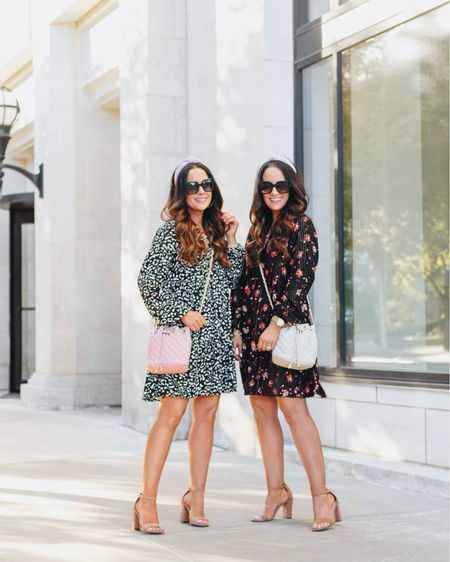Leopard or floral - which under $35 swing dress do you all like best? #ad Girls night is always better in new @walmartfashion dresses and bags! ❤️ These comfy yet chic swing dresses are so affordable and ship for FREE! Runs tts but if between sizes go up for the best fit. This style also comes in a gorgeous black dot! And we can't forget about this super cute under $35 quilted bags! They quality is great for the price and they come in more colors too. 🛍 Shop it all by taking a screenshot or head to our link in bio! We have more details on IG stories too. ☺️ xo, L & W