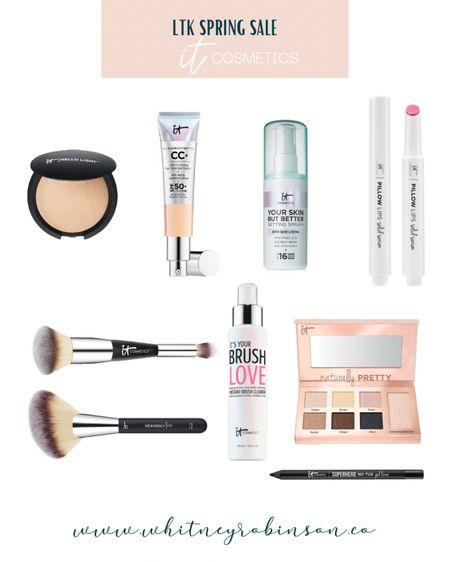 http://liketk.it/3cuA7 @liketoknow.it @liketoknow.it.home #liketkit #LTKbeauty #LTKunder50 #LTKstyletip   It Cosmetics Foundation Makeup  Makeup brushes Summer makeup  Lipstick  Lip color Lip gloss Eyeliner