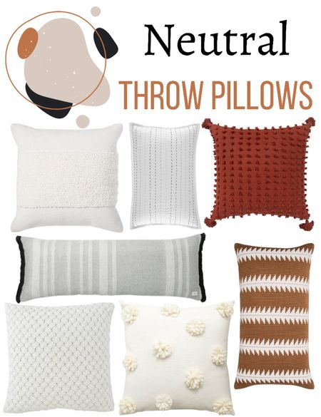 Neutral throw pillows you will love for the summer and fall time!   🧡🧡🧡🧡🧡  Throws, throw pillows, target, target home finds, target home decor, neutral decor, neutral throw pillows  #LTKhome #LTKSeasonal #LTKunder100