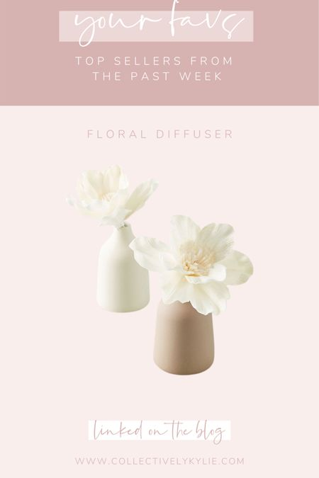 Your favorite gift ideas from the past few weeks: this floral diffuser was a hit! Perfect gift for moms, grandmas, aunts, friends, coworkers and more. So girly and beautiful. http://liketk.it/33omm #liketkit @liketoknow.it #LTKgiftspo #LTKhome #LTKunder50
