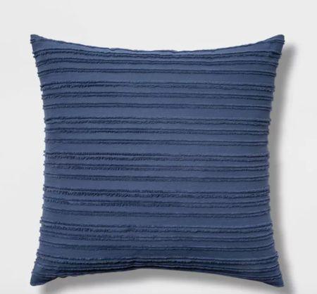 Blue throw pillow, throw pillow, Threshold pillow, Target pillow    #LTKsalealert #LTKunder100 #LTKhome