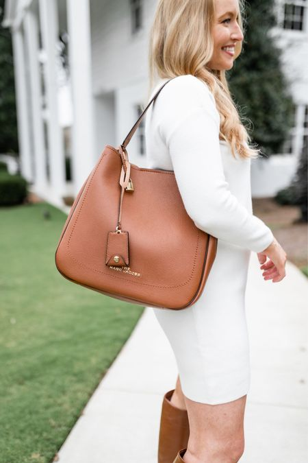 Classic brown shoulder bag. Love that it comes with a longer strap to also wear it crossbody. Linking some Marc Jacob handbags from Nordstrom below   #LTKitbag