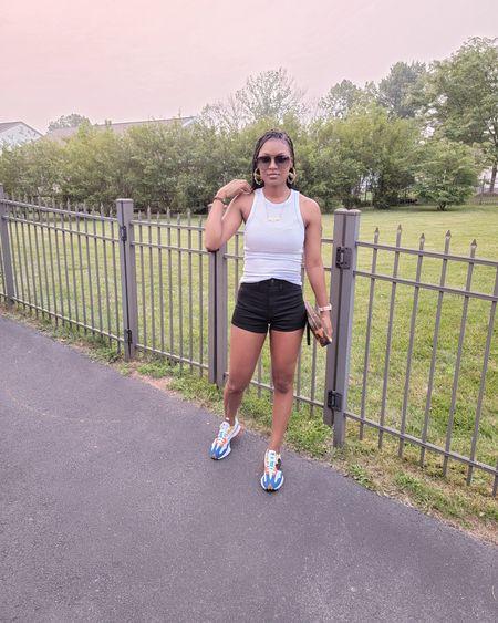 Wntire outfit $20!!Love these $12 high waisted target shorts. Great basic on the go fit.  #shorts#tanktop#newbalance http://liketk.it/3khQH  #sneakers#sneakeroutfit http://liketk.it/3kcir #LTKsalealert #LTKstyletip #LTKunder50 #LTKunder100 #LTKshoecrush #LTKtravel #LTKworkwear #LTKfit @liketoknow.it #liketkit #LTKmens #LTKitbag @liketoknow.it #liketkit