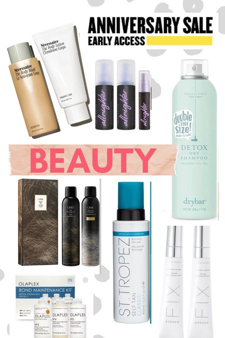 Nordstrom // Anniversary Sale // NSale // dry shampoo // sunless tanning // urban decay // st tropez   #LTKunder50 #LTKsalealert #LTKbeauty