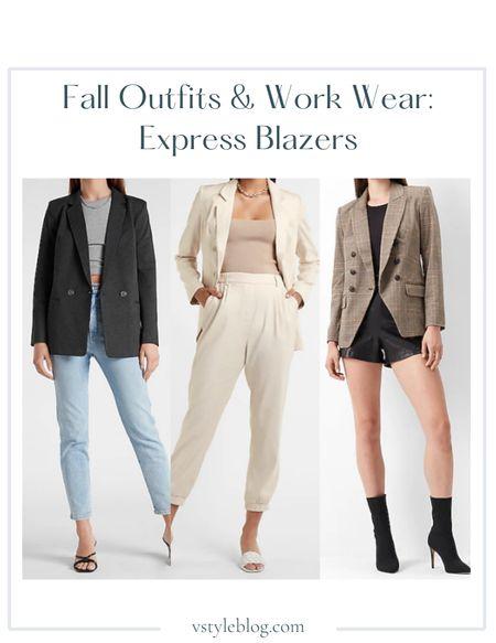 Fall outfits, Work wear, Teacher outfits, Fall family photos, Blazer, Boyfriend blazer, Nude blazer, Plaid blazer, Sale alert, LTK Day Sale  Express  Heathered Double Breasted Boyfriend Blazer ($118) Oversized Linen-Blend Double Breasted Boyfriend Blazer (was $138, now $99.99) Plaid Knit Peak Lapel Double Breasted Blazer ($158)  #LTKworkwear #LTKsalealert #LTKSale