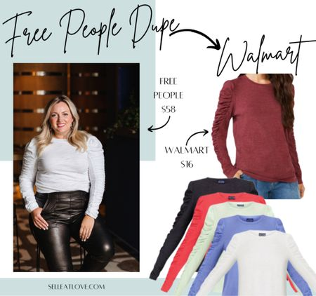 Who remembers the Nordstrom Sale Free People top that was sold out during the sale? They have restocked and still a good deal at $58 but look at this Free People Dupe from Walmart !!!! $16!! So many colors!  Both styles linked!   #freepeopledupe #walmart #midsize fashion  #LTKcurves #LTKSeasonal #LTKbacktoschool