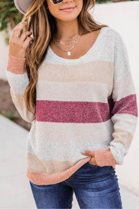 Pink Lily striped sweater $38 🤍Pink Lily sweaters, fall sweaters, casual sweaters, cardigans, cozy sweaters, off the shoulder sweaters, oversized sweaters 🥰 Thanks for being here with me Xox Christin   @shop.ltk #liketkit @LTKworkwear  #pinklily @pinklily Follow my shop on the @shop.LTK app to shop this post and get my exclusive app-only content!  #liketkit #LTKstyletip #LTKshoecrush #LTKcurves #LTKitbag #LTKsalealert #LTKfit #LTKunder50 #LTKunder100 #LTKbacktoschool #LTKstyletip