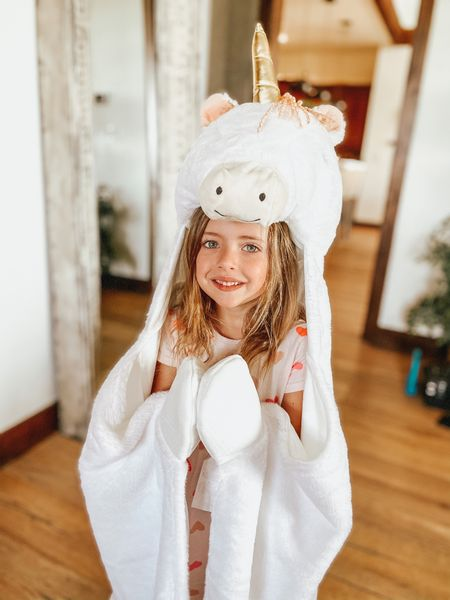 Pillowfory Unicorn hoodie blanket from Target is sooo cute! It's a great birthday gift and only $20! It's so soft too and even has a tail! 🦄   #LTKunder50 #LTKsalealert #LTKkids