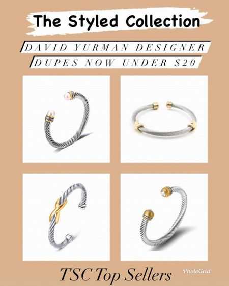 The styled collection David Yurman designer dupes now $20 and under - I wear mine all the time and they are great quality! They make great gifts too!   Jewelry  Bracelet  Gifts for her Gift ideas  David Yurman Dupes  Designer Dupes Gold jewelry  Bangles  Coin necklace  Bangles  Bracelet stack      #LTKsalealert #LTKunder50 #liketkit @liketoknow.it http://liketk.it/3huPt   The styled collection now 30% off for LTK Day    #LTKunder50 #LTKsalealert #LTKDAY  http://liketk.it/3huPt #liketkit @liketoknow.it   jewelry  Bracelet  Gifts for her Gift ideas  David Yurman Dupes  Designer Dupes Gold jewelry  Bangles  Coin necklace  Bangles  Bracelet stack  Gold rings  Cartier ring  Tiffany ring