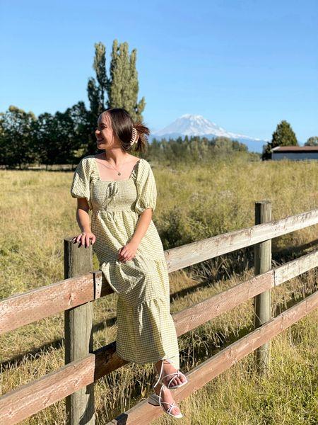 Summer wedding dress with a gingham midi dress. Prairie style. @liketoknow.it http://liketk.it/3kx62 #liketkit #LTKtravel #LTKsalealert