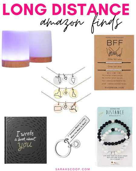 In a long distance relationship or miss your best friend? Here are some awesome products from Amazon to stay in touch! 💗  #friendshiplamps#bffbracelet#book#distancebracelet#necklace#statenecklace#gold#silver#rosegold#keychain#amazonfinds#amazon#longdistance#boyfriend#girlfriend#bestfriend#gifts  #LTKSeasonal #LTKunder50 #LTKGiftGuide