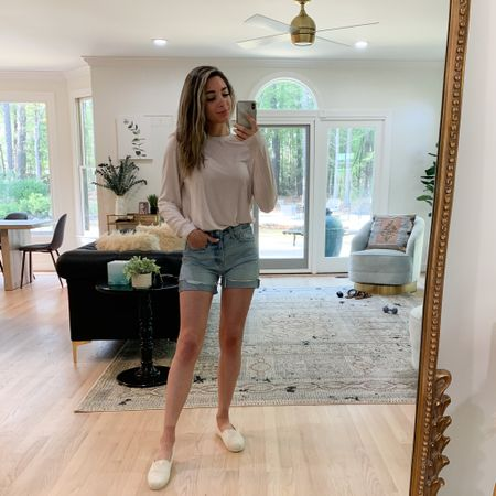 In love with my new outfit from Target! 🤩 How cute are these shorts! I love that they are longer shorts and I rolled them up one time to be the perfect length! This shirt is SO soft I will most likely sleep in it tonight! 😂 Last but not least my shoes are super comfy too and lightweight! All perfect for summer! ❤️👏🏼 Who else is loving the warm weather!  . . .  http://liketk.it/3cSo4 #liketkit @liketoknow.it You can instantly shop my looks by following me on the LIKEtoKNOW.it shopping app #LTKstyletip #LTKshoecrush #LTKunder50