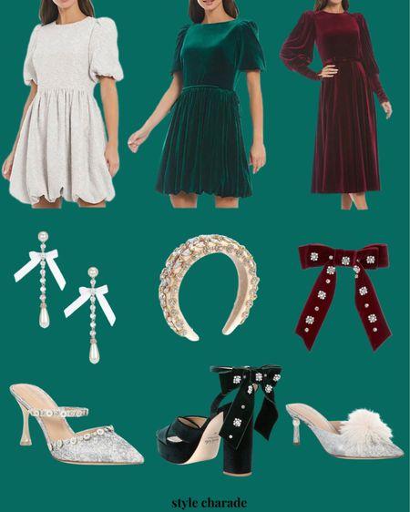 Holiday dresses, winter dresses, midi dress, mini dresses, holiday shoes, wedding guest dresses   #LTKshoecrush #LTKunder100 #LTKwedding
