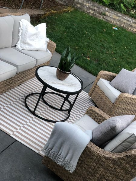 Walmart sofa / chair set under $900! Comes with two tables and covers.   #LTKhome #LTKfamily