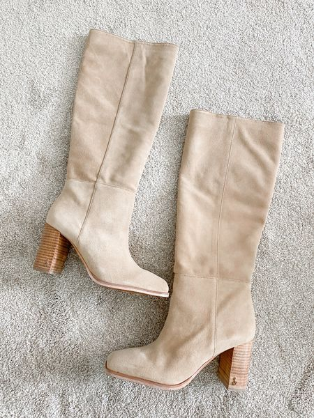 My favorite knee high boot from the Nordstrom Anniversary Sale. I'll be wearing these all fall with dresses! I sized up, they ran right across the top of my foot (I have a high arch) and were hard to slip off and on in my normal size.     #LTKsalealert
